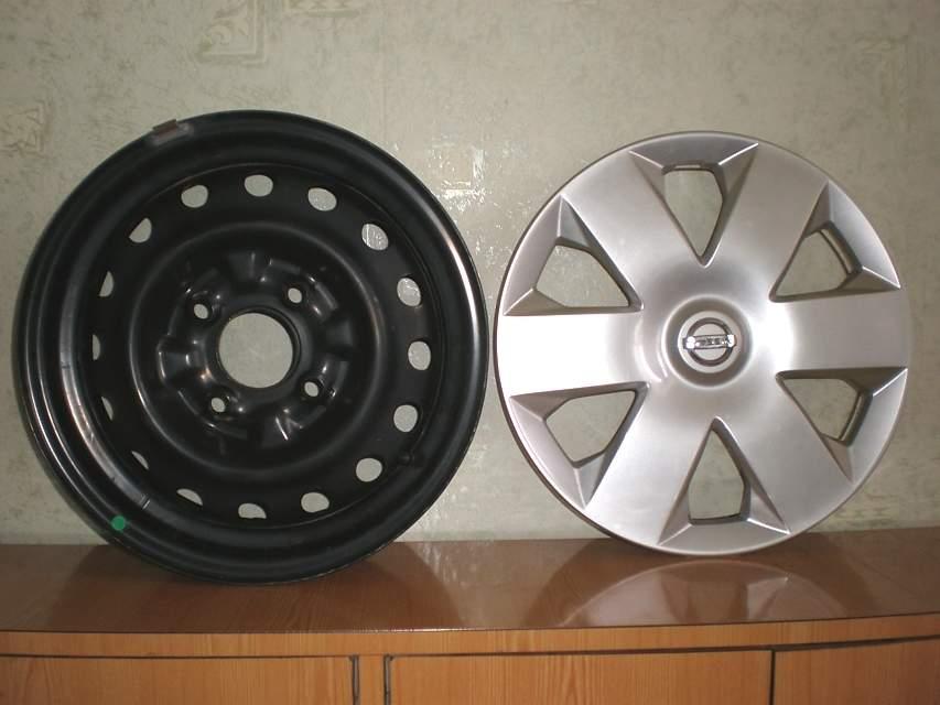 Продам Оригинал 5 дисков с колпаками Almera Classic R14 2012 года. Цена всего комплекта 2500 гр Харьков